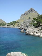 Views of bay and rocks, Sa Calobra, Majorca