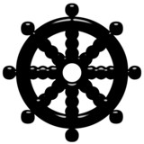 3D Buddhism Symbol Wheel of Dharma poster