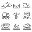 Transportation icons (black and white variation)