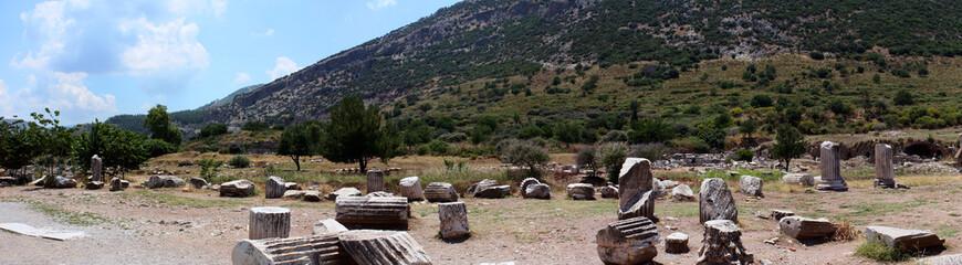 Panorama of Ephesus ruins
