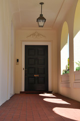 Outside doorway