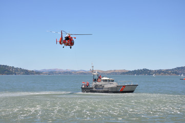 Rescue Helicopter and Boat