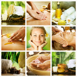 Fototapety Spa Collage.Dayspa concept