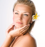 Fototapety Beautiful Spa Girl face.Perfect clear skin concept