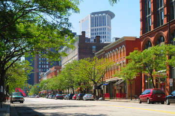 Warehouse District in Cleveland, Ohio