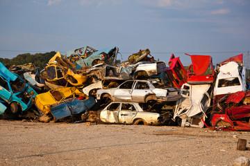 Junk Cars On Junkyard