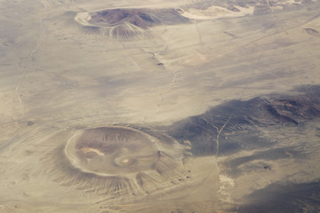 Aerial view of craters