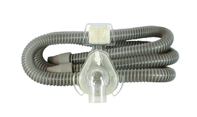 Continuous positive airway pressure (CPAP) mask and hose