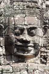 The Bayon at Angkor Thom in Cambodia