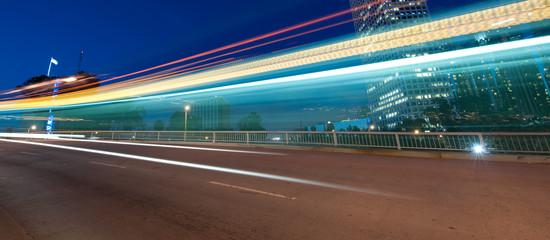 Traffic through the city