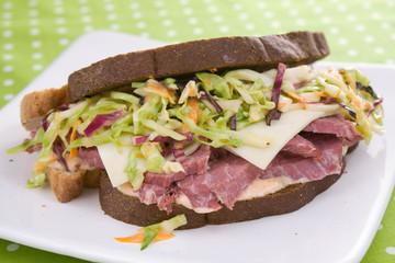 Reuben Sandwich With Coleslaw