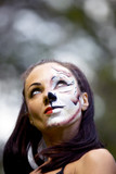 woman with tigress face art poster