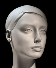 Head of mannequin