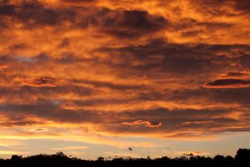 tramonto dopo il temporale