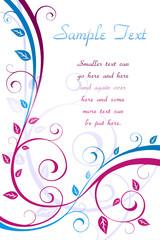 Floral leaf card