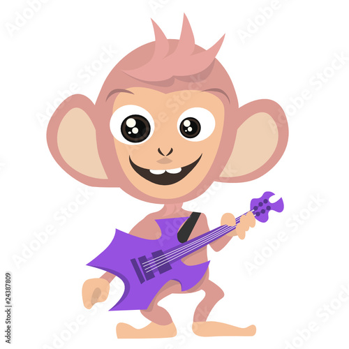 guitarist monkey