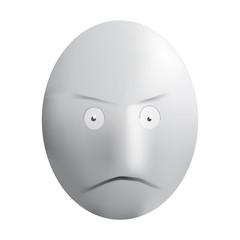 visage 3d colère