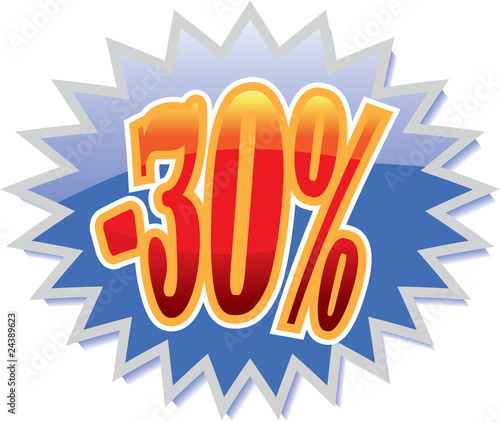 30% discount label