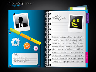 Diary-like web template