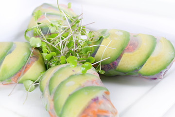 healthy veggie spring roll wrapper