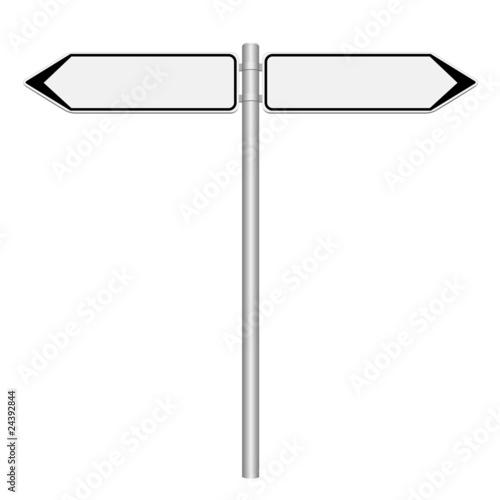 Panneaux de direction gauche et droite