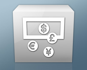 "Box-shaped Icon ""Money Exchange"""