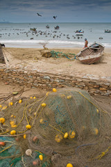 Fishing net and fishermen