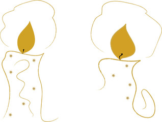 Two golden candles