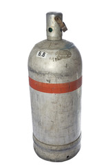 isolated gas bottle
