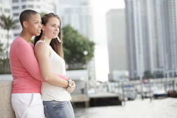 Two young women enjoying the outdoors