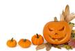 Hintergrund mit Halloween-Kürbis