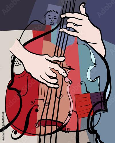 Ilustracja wektorowa z podwójnym składzie bass