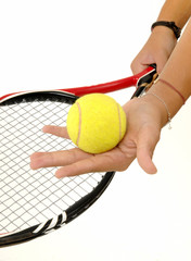 tennis player hand