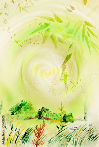 Background with plant patterns