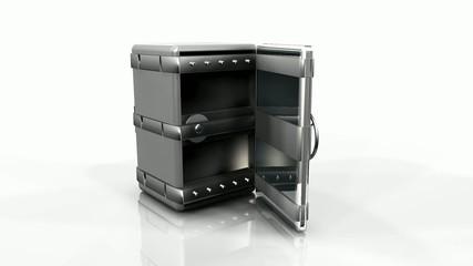 Animation vidéo 3D coffre-fort