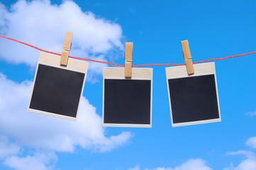 photo frame . the blue sky.