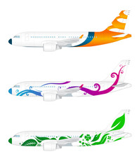 Three modern aircrafts