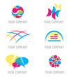 Ensemble d'Icones Abstrait pour Design Logos