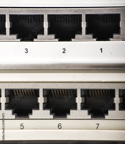 the connections of a internet equipment