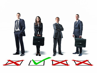 businesspeople and selection