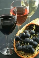 Trio de vins - fond noir