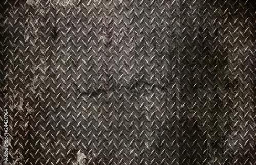 grunge diamond metal background - 24420064