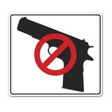 Pegatina CONTROL DE ARMAS poster