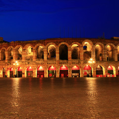 Coliseum in Verona, Italy landmark