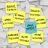 Passwords Written on Sticky Notes poster