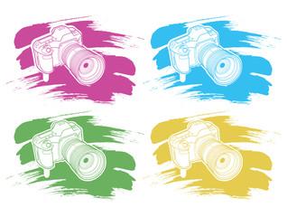 camera with brush