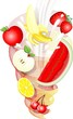 Frullata di Frutta Astratto-Abstract Fruit Milkshake-Vector