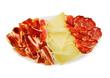 queso, lomo y jamón
