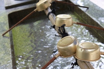 神社の水飲み場