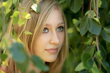 Portrait zwischen Blättern :-)